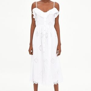 Zara perforated dress with embroidery